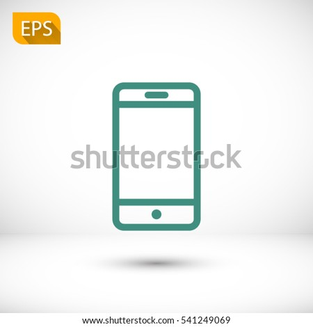 Phone, linear icon. One of a set of linear web icons