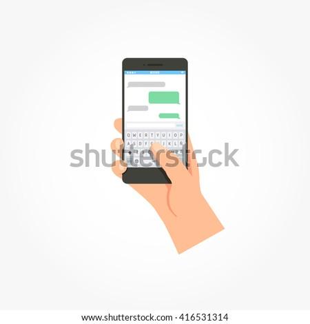 Phone Message App Template