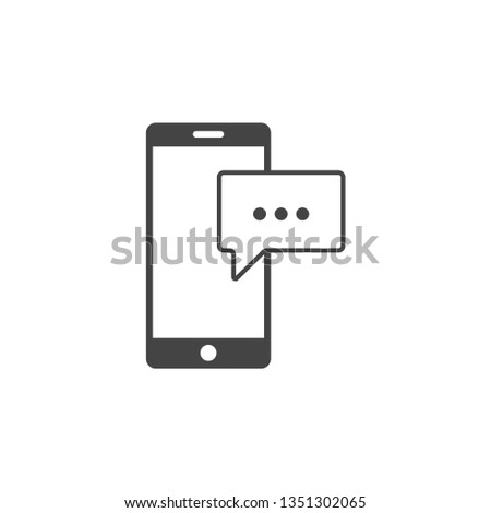 Phone message graphic design template vector isolated illustration