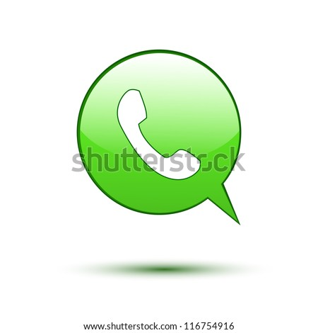 Green Logo with Phone