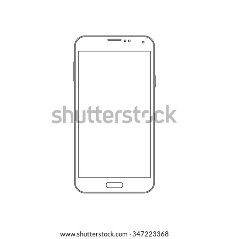 Phone outline icon on the white background. Vector design template.