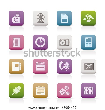 Phone Performance, Business and Office Icons - Vector Icon Set