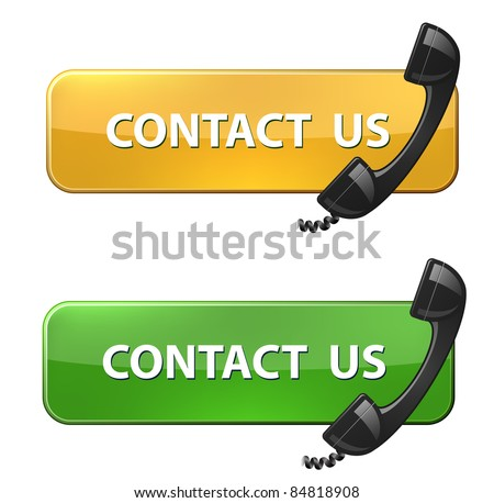 "Phone receiver and ""contact us"" button"