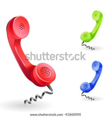 """phone receiver as """"contact us"""" icon"""