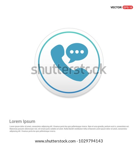 Phone receiver icon. Hexa White Background icon template