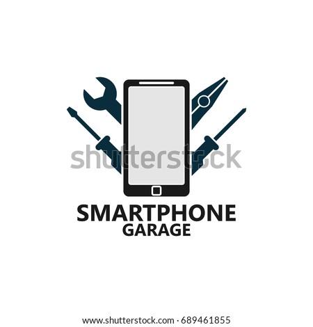 Phone Repair Logo Template Design