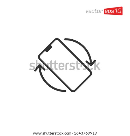 Phone Rotation Mobile Rotate Icon Design Vector