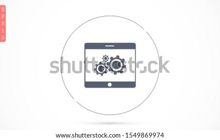 phone settings vector icon settings for online settings vector