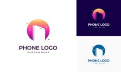 Phone Shop logo designs, Modern Phone logo designs vector icon