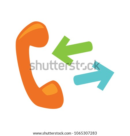 Phone sign icon- Call center, communication icon - Phone cell symbol