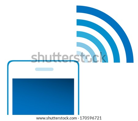 phone signal on white background. vector