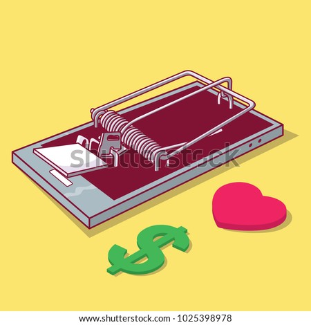 phone trap vector illustration