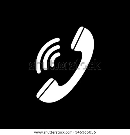 phone vector icon isolated on black
