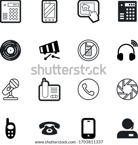 phone vector icon set such as