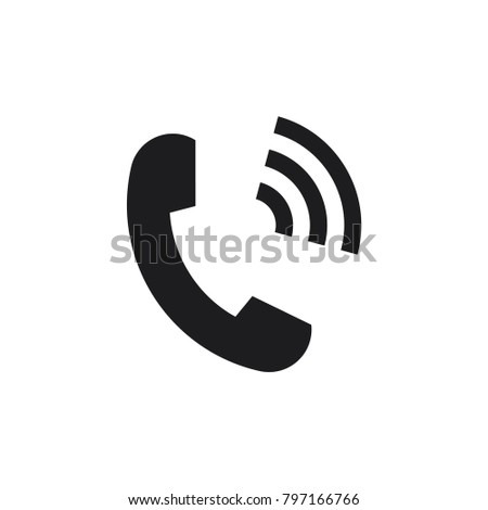 phone vector icon, telephone symbol, phone icon in trendy flat style