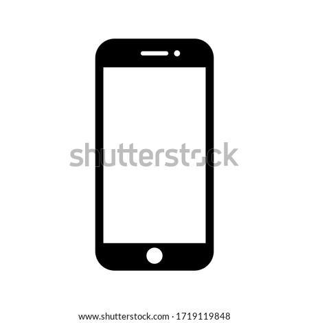 phone vector with blank white screen isolated on white background. eps 10
