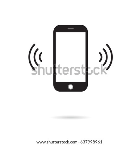 phone vibration vector flat icon