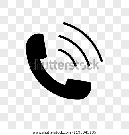Phone volume vector icon on transparent background, Phone volume icon