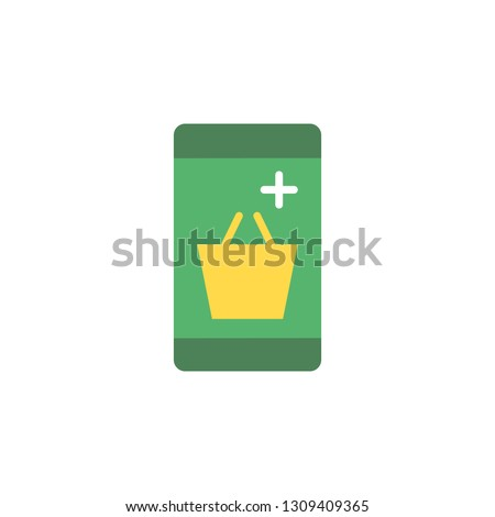 Phone with market cart icon. Element of Web Money and Banking icon for mobile concept and web apps. Detailed Online shopping icon can be used for web and mobile
