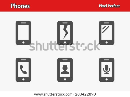 phones icons professional