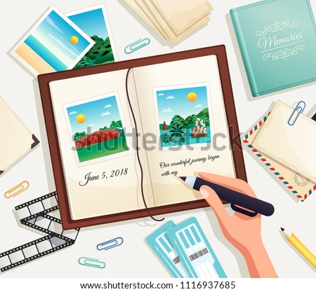 photo album cartoon vector