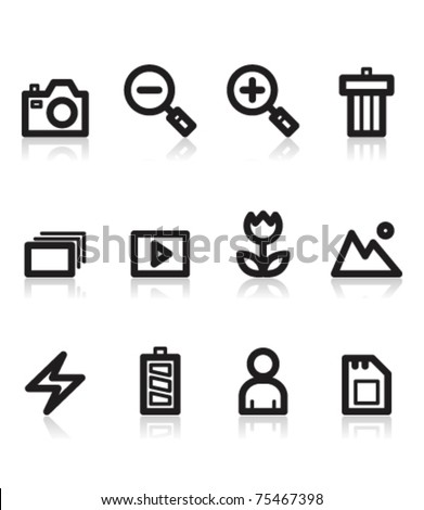 photo and camera icons