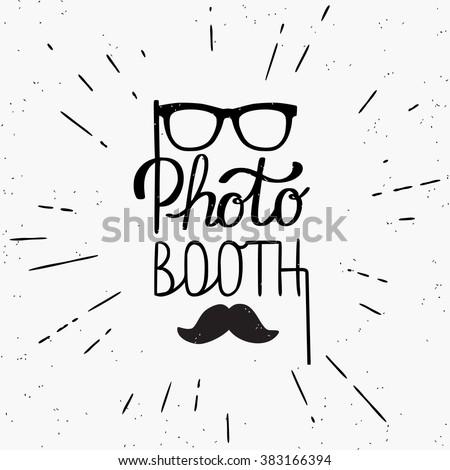 photo booth hand written design ...