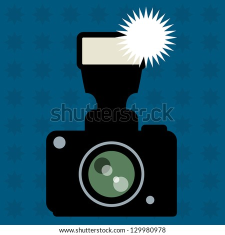 photo camera and flash abstract