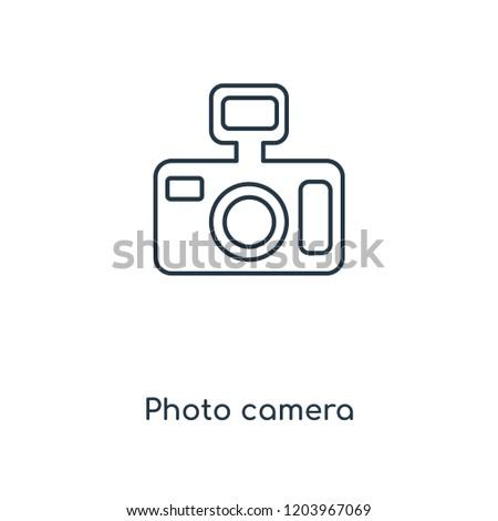 photo camera concept line icon