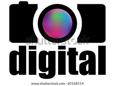 photo camera design - stock vector