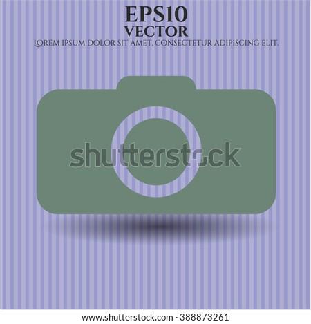 Photo camera high quality icon