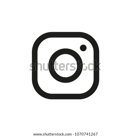 photo camera icon - Shutterstock ID 1070741267