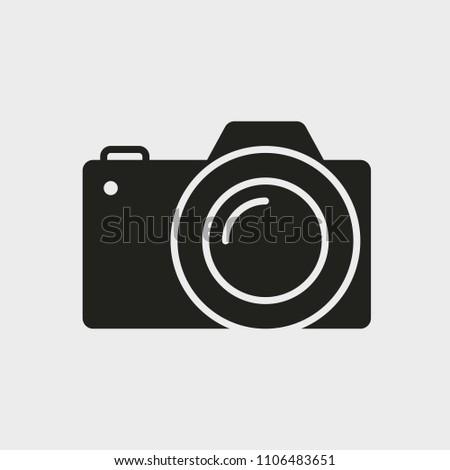 Photo Camera icon. Glyph icon solid style.