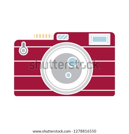 photo Camera icon-lens symbol-photography illustration-capture illustration-flash vector