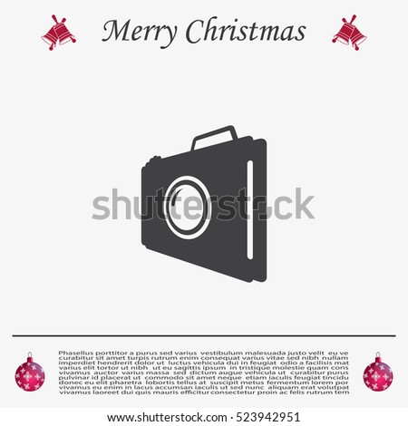 photo camera icon vector eps 10