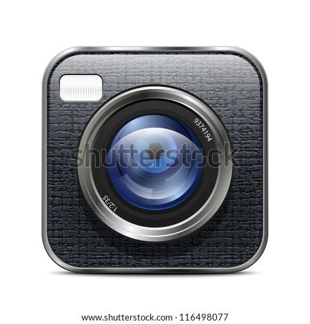 Photo Camera Icon. Vector Illustration