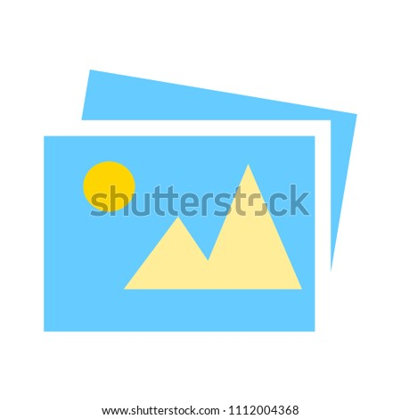 photo CAMERA icon, vector photography, digital image symbol, image gallery