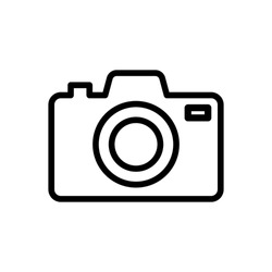 Photo camera icon vector sign and symbols