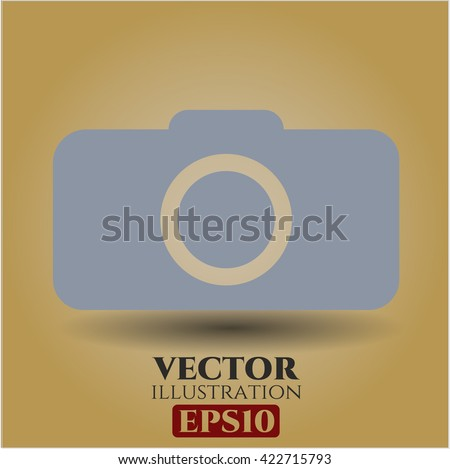 photo camera icon vector symbol flat eps jpg app web