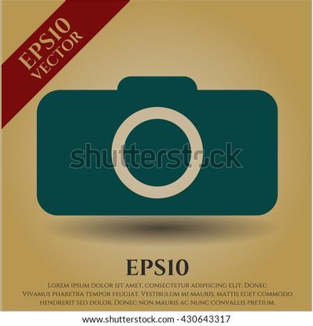 Photo camera icon vector symbol flat eps jpg app web