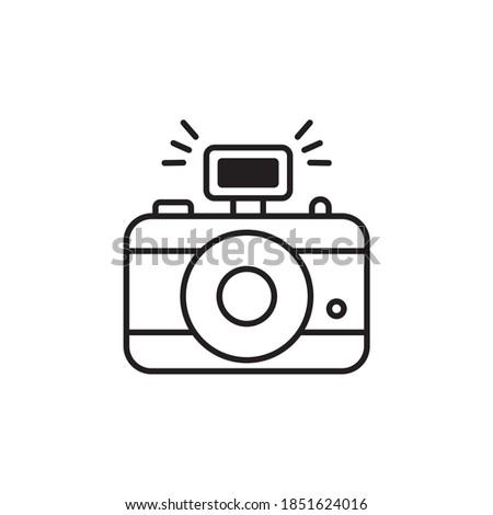 Photo Camera illustration style outline icon. EPS 10 File