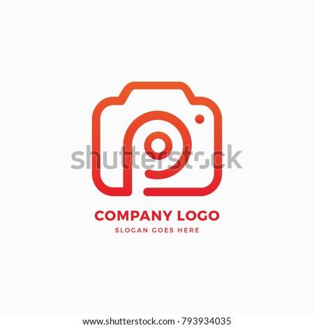 stock-vector-photo-camera-p-letter-logo-design-template
