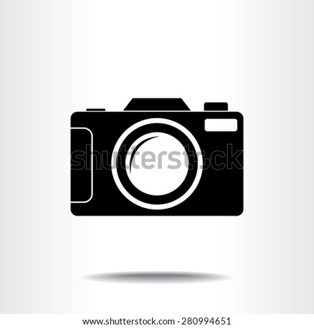 Photo camera sign icon, vector illustration. Flat design style
