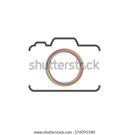 photo camera silhouette with