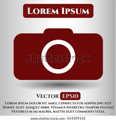 Photo camera vector icon