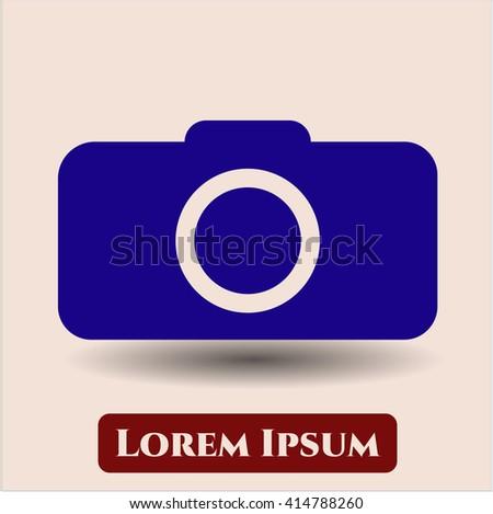 Photo camera vector icon or symbol