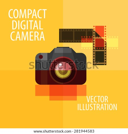 photo camera vector logo design