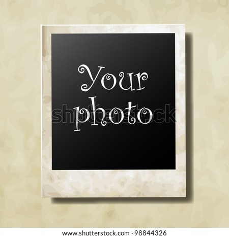 Photo card for your photo vector
