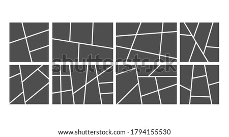 Photo collage. Vector set of collage frame for photos and pictures, montage frame photography, illustration, pattern montage frame, abstract vector background. Сток-фото ©