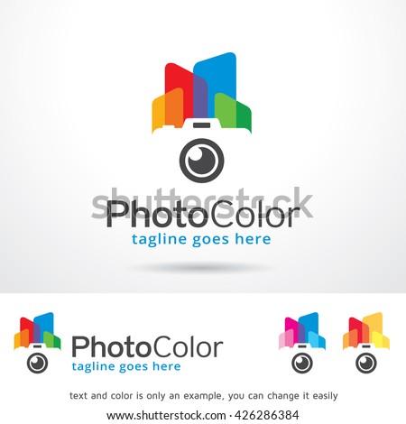 Photo Color Logo Template Design Vector